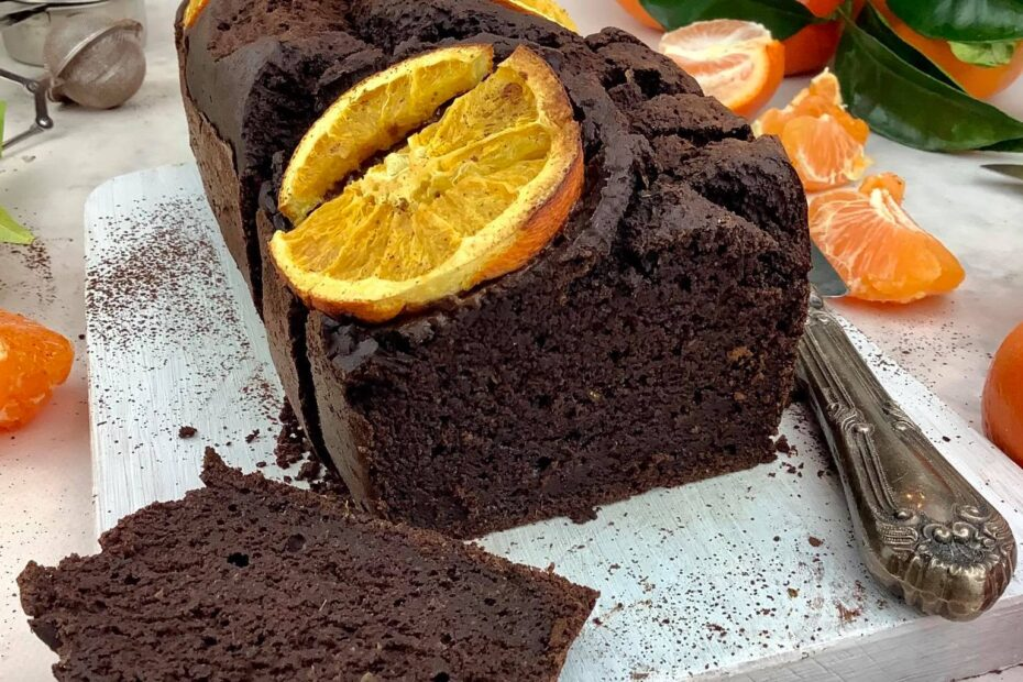 Receta Vegana Pastel de chocolate y naranja sin azucar