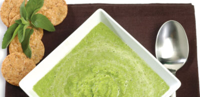 Receta Vegana: Sopa de guisantes con menta