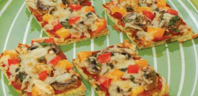Receta Vegetariana: Cuadrados de pizza