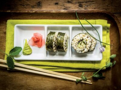 Receta Vegetariana: Sushi triple de arroz integral con algas