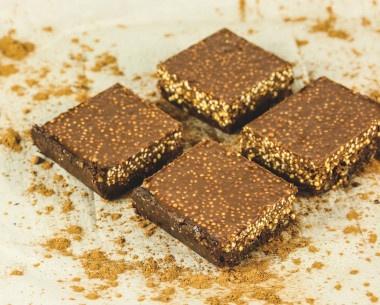 Receta Vegana: Barras crujientes de chocolate
