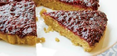 Receta Vegana: Tarta de frambuesa y almendra (sin gluten)