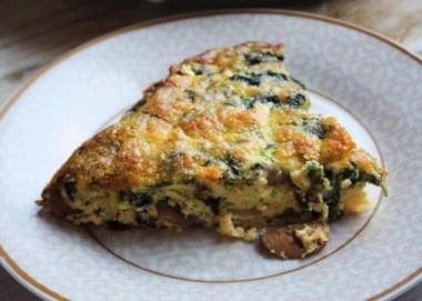 Receta Vegetariana: Quiche de espinacas y champiñones