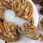 Receta Vegana: Bizcocho de canela con relleno de frutos secos